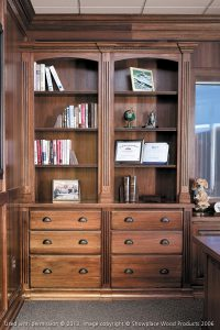 Home Office Renovations with Built-in Bookshelves