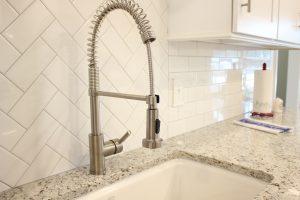 Modern pull-down spray faucet, Statesboro