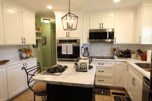 Beautiful white kitchen with island - Swainsboro, GA
